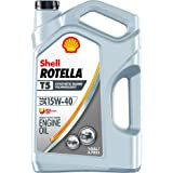 Shell ROTELLA T5 15W-40 Synthetic Blend Diesel Engine Oil, 1 Gallon