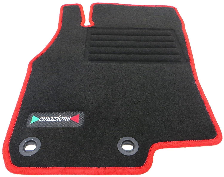Velours rot Fußmatten passend für FIAT Grande Punto EVO 199