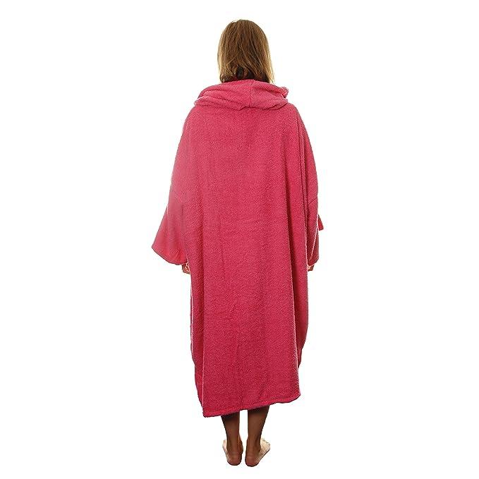 Tiki - Poncho cambiador de toalla con capucha en rosa, para mujer, playa, piscina: Amazon.es: Deportes y aire libre