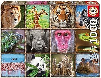 Salvajes17656 Collage Educa Selva Puzzle Animales 1000 De Borrás QWdCrEBoex