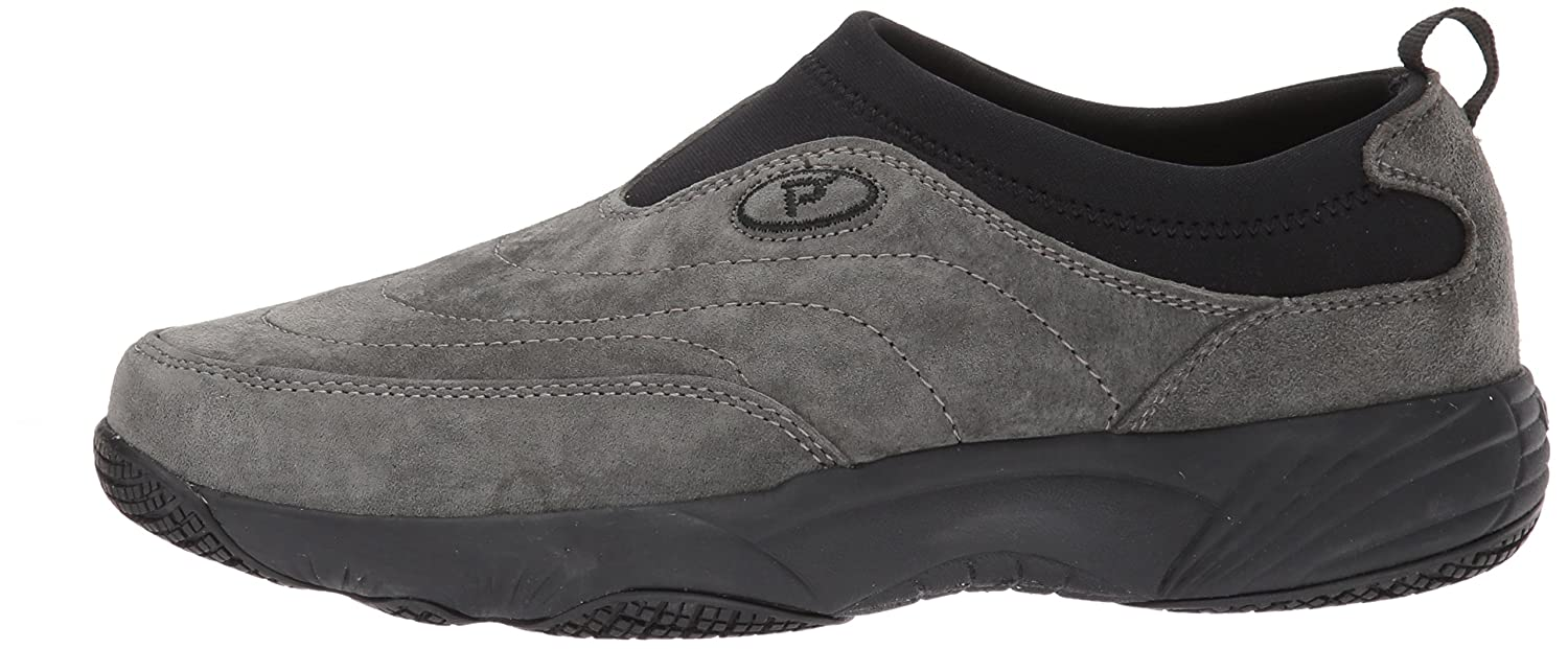 Propet Women's Wash N Wear Slip on Ll Walking Shoe B01N7CQQ5I 10 W US|Sr Pewter Suede