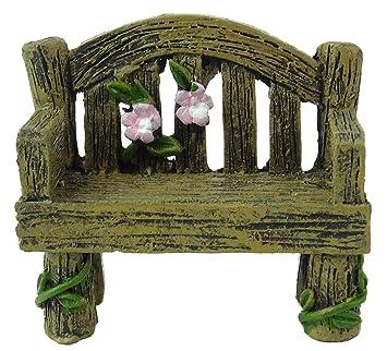 Fairyland Fairy Garden Miniatur Holzbank Fee Garten Zubehör