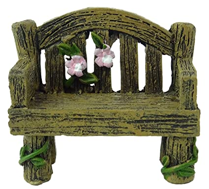 Fairyland Fairy Garden Miniature Wooden Bench   Fairy Garden Accessories