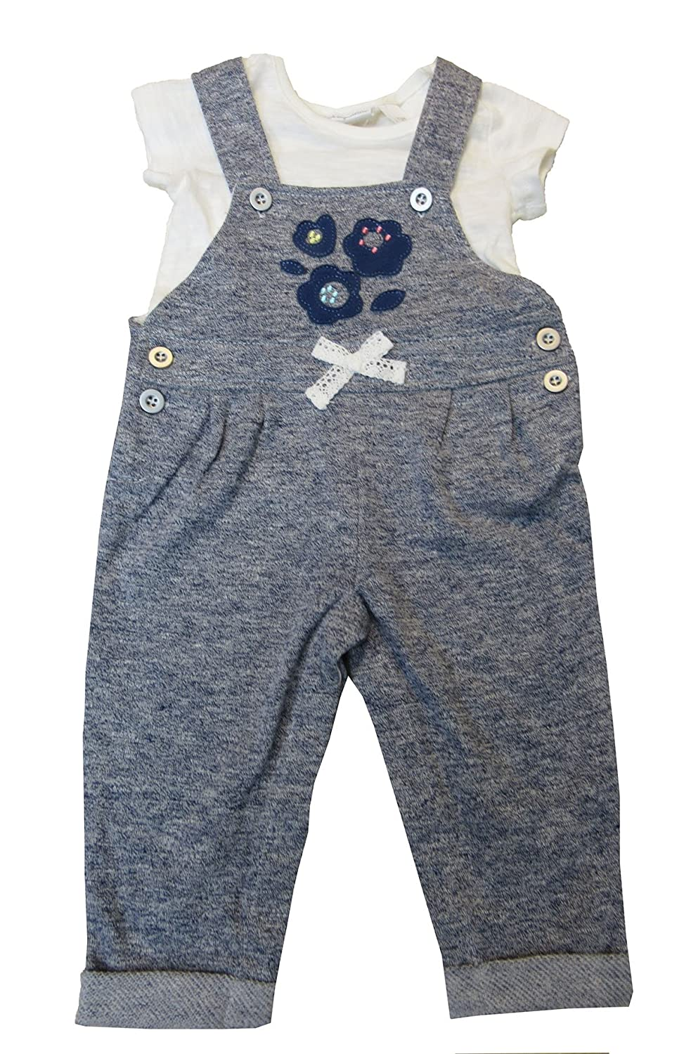 806e0620c Amazon.com: First Impressions Baby Girls' 2-Pc. T-Shirt & Marled Overall  Set, Shark Eye 6-9 Months: Clothing