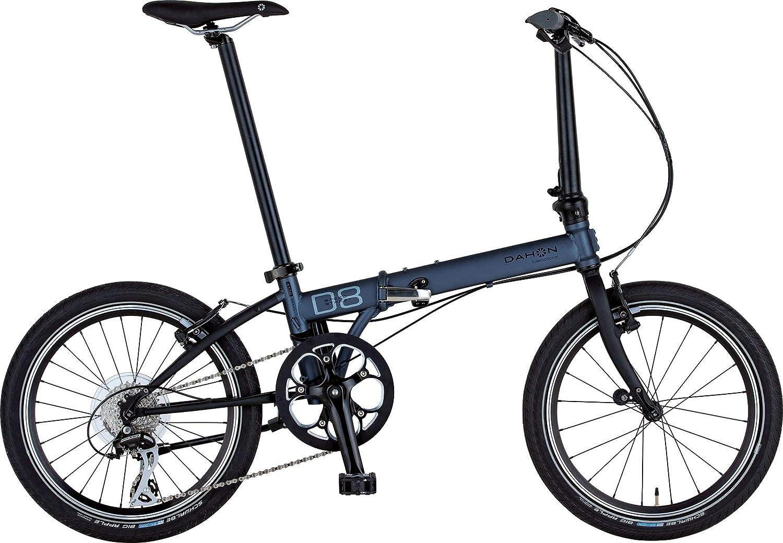 ダホン(DAHON) Speed D8 Street インターナショナルモデル フォールディングバイク 20インチ 2019年モデル [外装8段変速 クロモリフレーム] KAC083  ガンメタル B07M5QM3ND