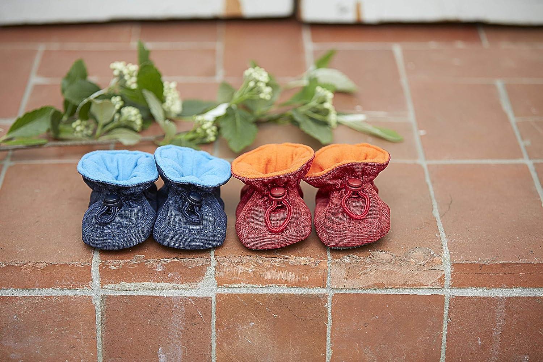 Melton Unisex Baby Glitter Toggle Non-Slip Booties