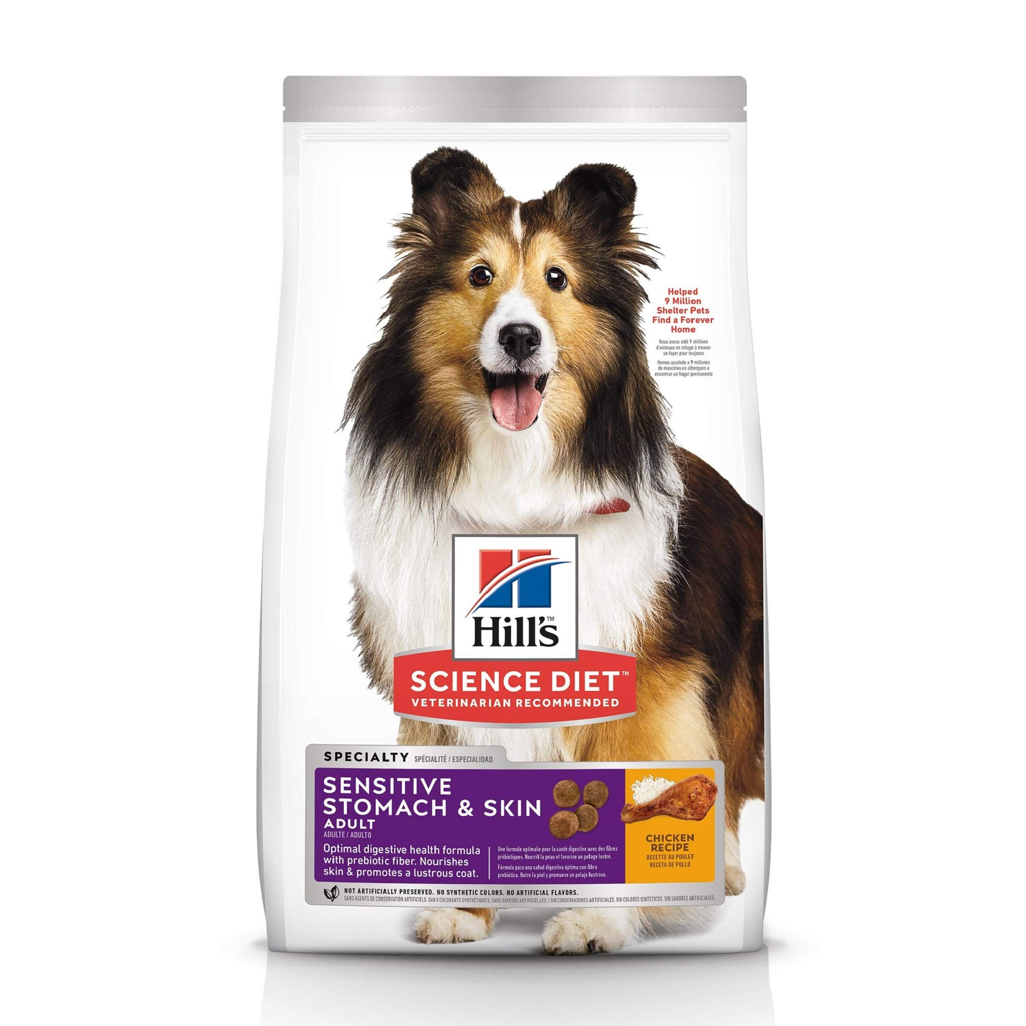 Hill's Science Diet Dry Dog Food, Adult, Sensitive Stomach & Skin, Chicken Recipe, 30 lb Bag by Hill's Science Diet