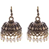 Ganapathy Gems Brass Jhumki Earings For Women - White