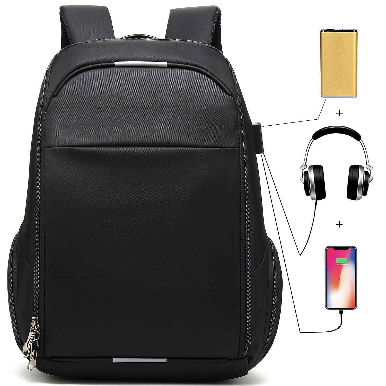 Business Laptop Backpack Large Fashion Ergonomic Computer Travel Backpacks for Men with USB Port