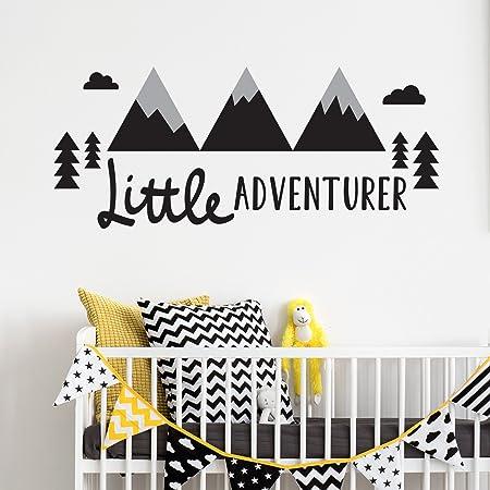 little adventurer v1 children s wall sticker wall quote lettering