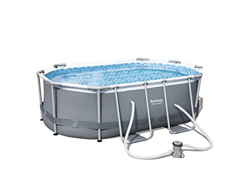 Bestway 56617 Piscina Power Steel Oval, 3.668 litros, M
