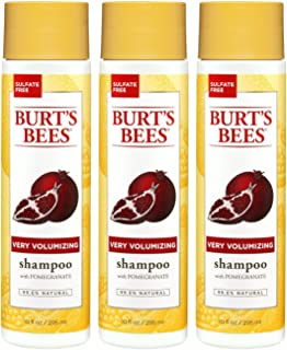 product image for Burt's Bees Very Volumizing Pomegranate Shampoo, Sulfate-Free Shampoo - 10 Ounce Bottles - Pack of 3