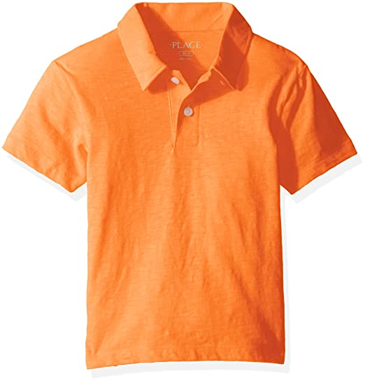 Amazon Com The Children S Place Big Boys Neon Polo Shirt Orange