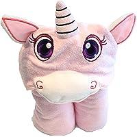 Toalla de baño Unicornio con gorro para bebes y niños. Bambú 100% RECICLABLE!! Seca mas rapido y Suavidad extrema!