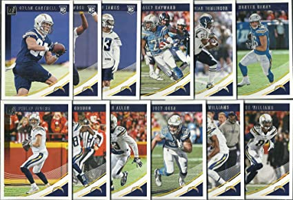 2016, 2017, 2018 Panini Donruss Football Los Angeles Chargers 3 Team