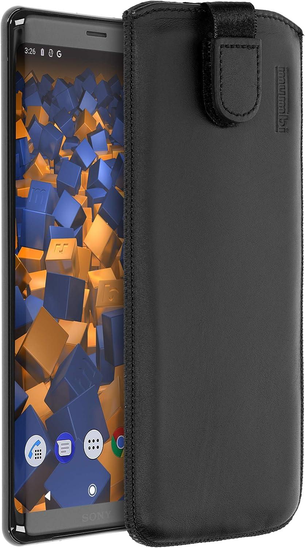 Mumbi Echt Ledertasche Kompatibel Mit Sony Xperia Xz3 Hülle Leder Tasche Case Wallet Schwarz Elektronik