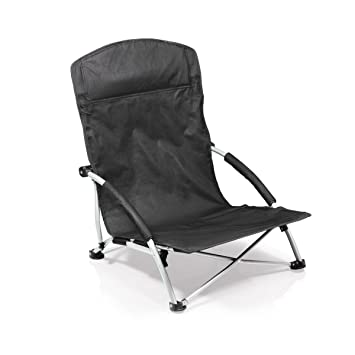 folding beach chairs. Picnic Time Tranquility Portable Folding Beach Chair, Black Chairs R