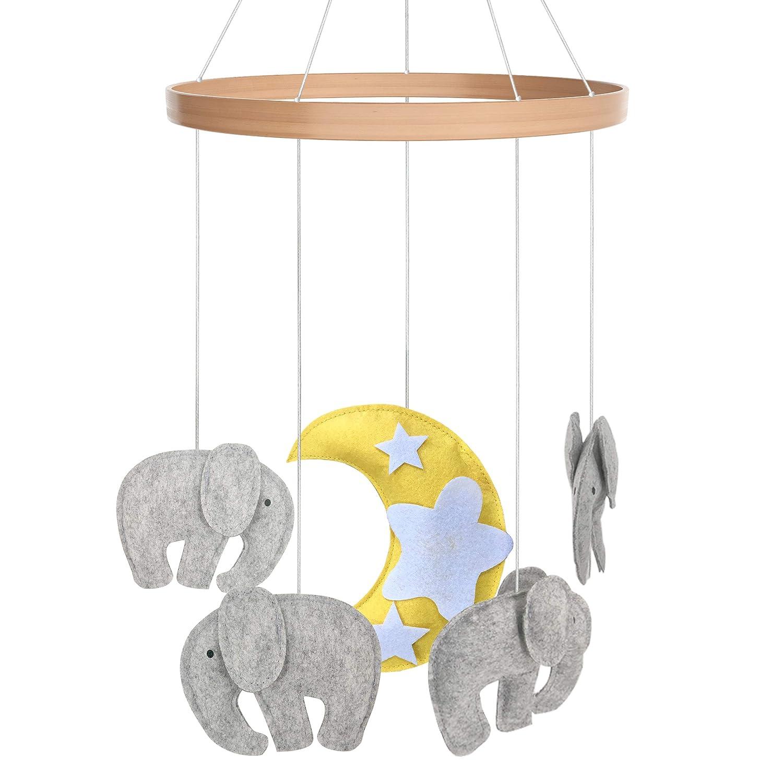 Lit bébé mobiles Jouets Idéal pour garçons + Filles par I Love Bub (éléphant)