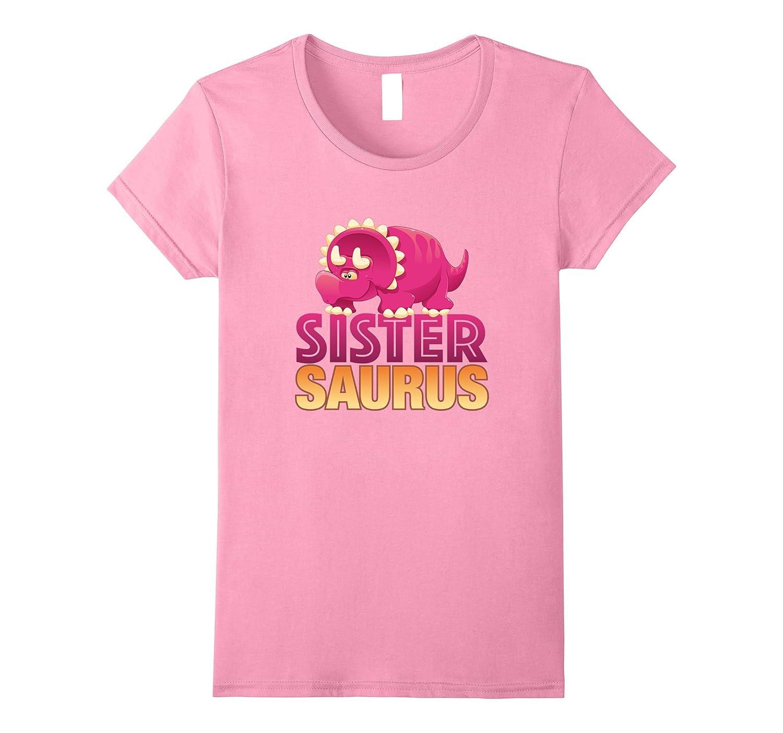 SISTER SAURUS PINK DINOSAUR TSHIRT for kids and girls