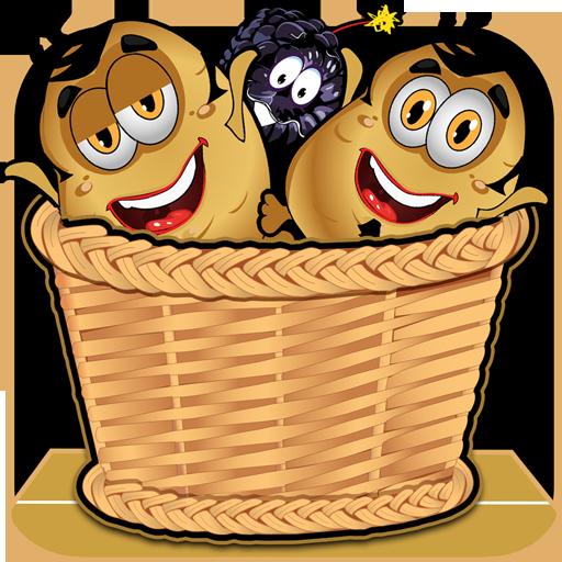 Veggie Potato Action - Catch Escaping Veggies