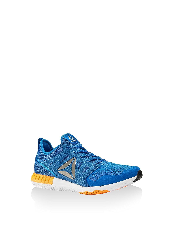 Reebok Zprint 3D We, Zapatos para Correr para Hombre 42 EU|Azul (Awesome Blue / White / Fire Spark / Pewter)