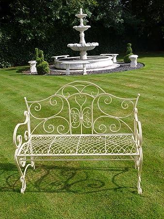 French Wrought Iron Garden Bench U2013 Bench Decoration Garden, Cream