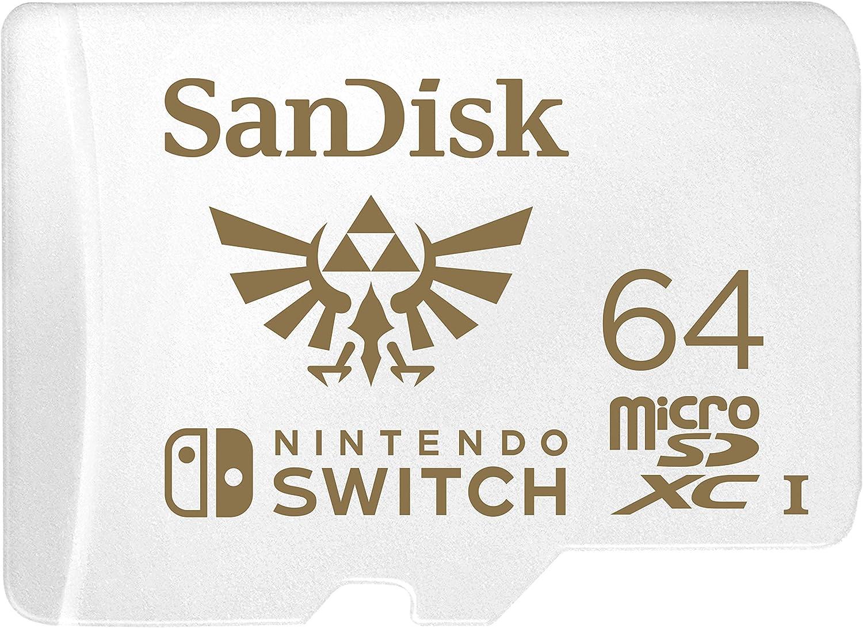 SanDisk 64GB MicroSDXC UHS-I Memory Card for Nintendo Switch - SDSQXAT-064G-GNCZN