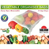 Shalimar Reusable Vegetable Organizer Bags/Fridge Bags/Net Bags (Pack of 6 Bags) (Natural Color)