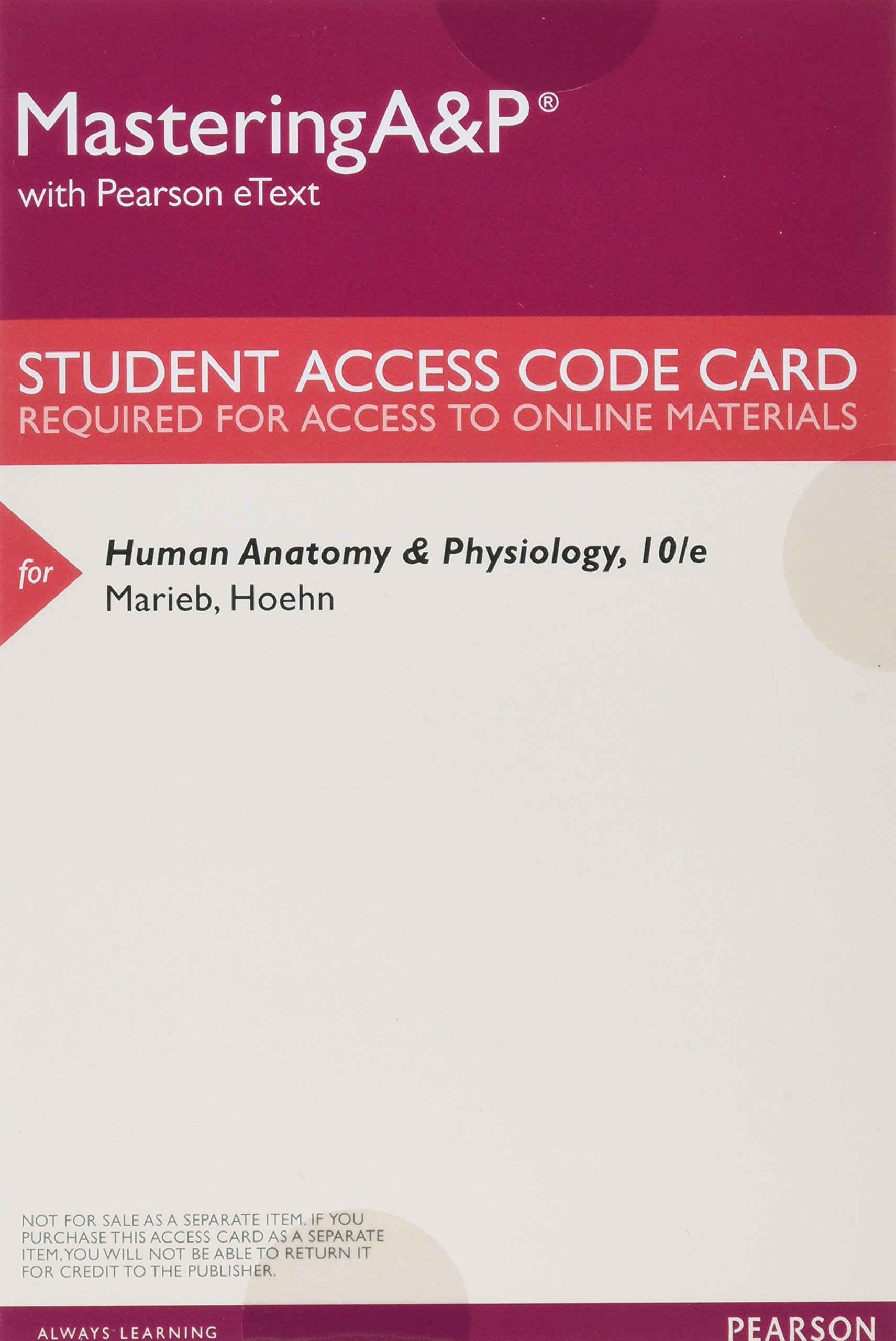 Berühmt Pearson Human Anatomy And Physiology 9th Edition Access Code ...