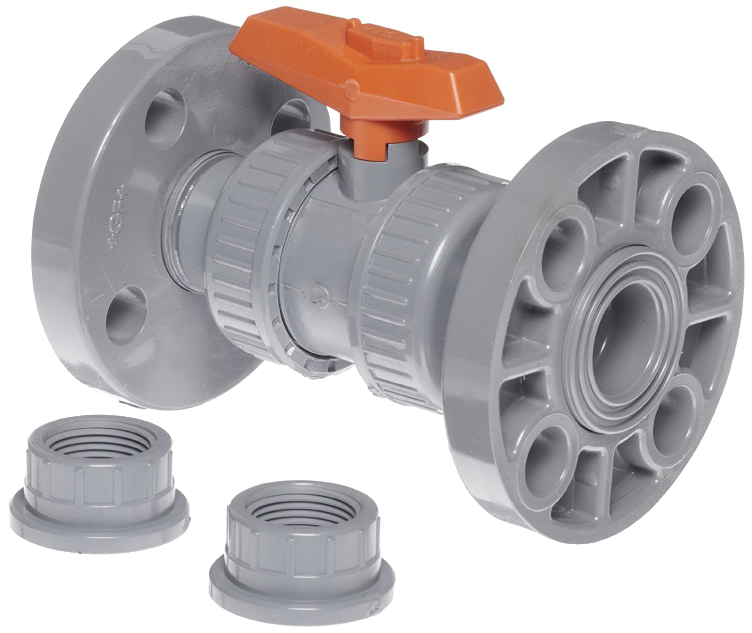 Gf piping systems cpvc true union ball valve two piece