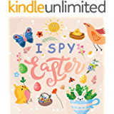 I Spy Easter: Can You Find It! - Happy Easter Word Guessing Game for Toddler & Kids  Preschool age 1-4, 2-5 Fun Interactive Activity Book l Learn What ... for Kids l Easter Gift for Boys & Girls