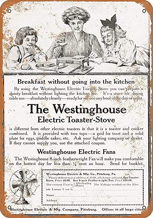 Electric Toaster-Stove Fans Póster de Pared Aluminio Metal ...