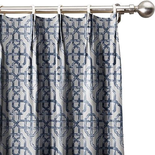 Neutral Trellis Window Curtains 120″ W x 102″ L