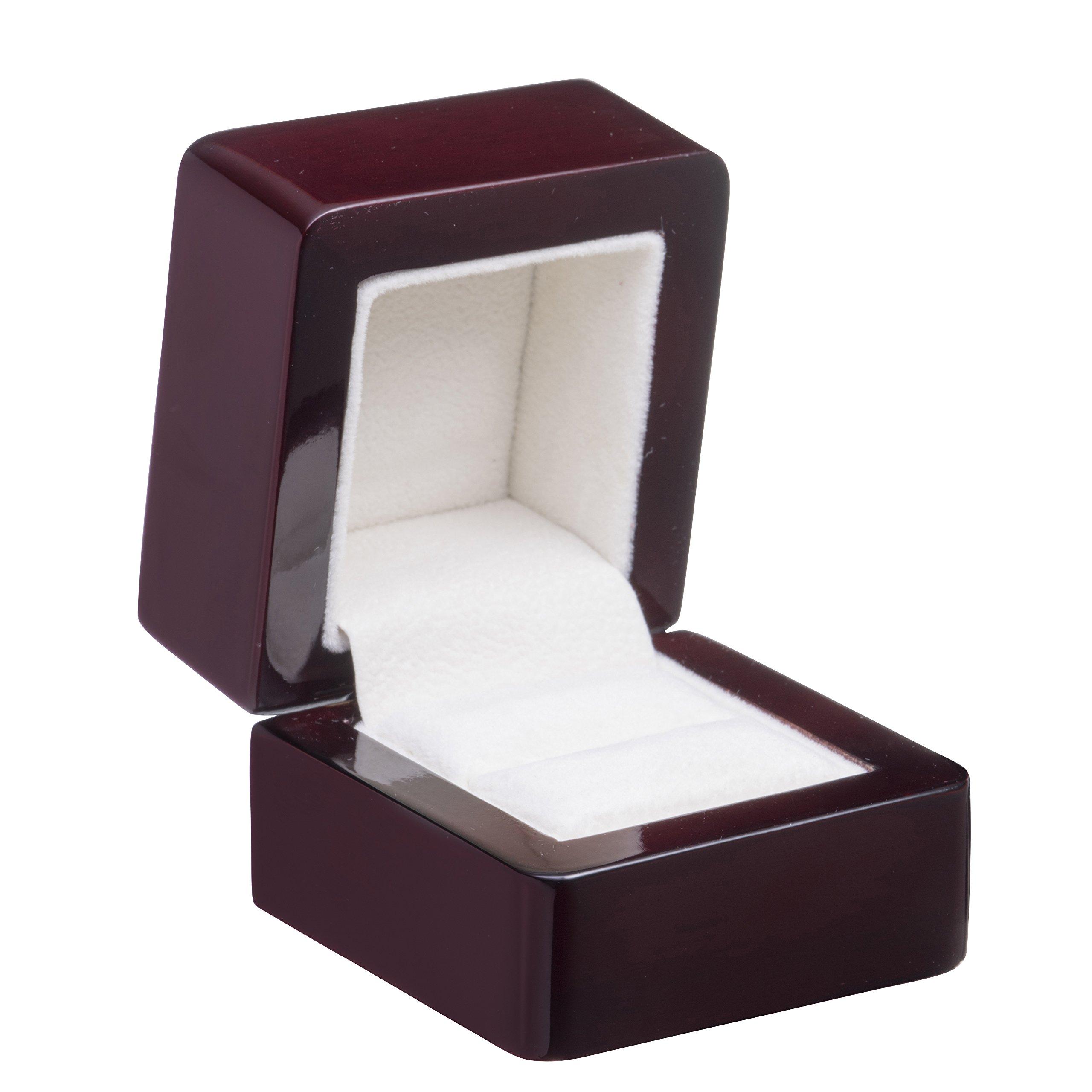 Allure Regal Ring Box, Rosewood