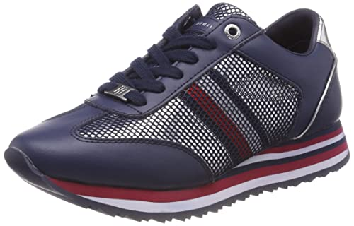 Tommy Hilfiger Tommy Corporate Flag Sneaker, Zapatillas para Mujer: Amazon.es: Zapatos y complementos