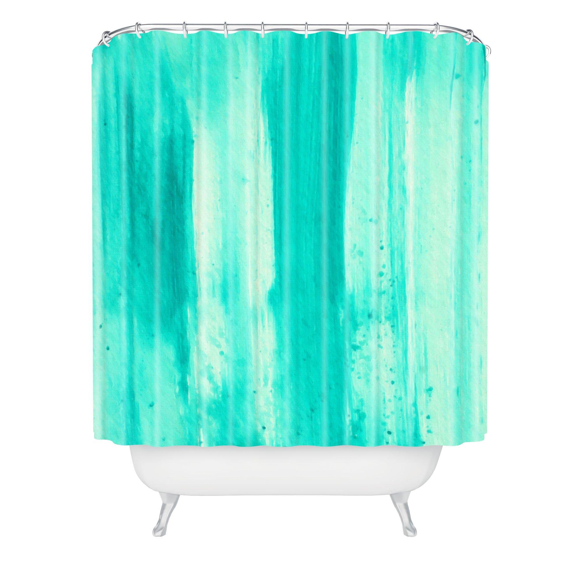 Deny Designs Madart Inc. Modern Dance Aqua Passion Shower Curtain, 69'' x 72''