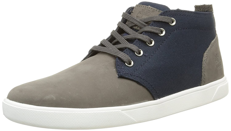 Amazon.com   Timberland Mens Groveton Chukka Shoes, Grey Nubuck/Navy Canvas,  11 Medium (A112P065)   Shoes