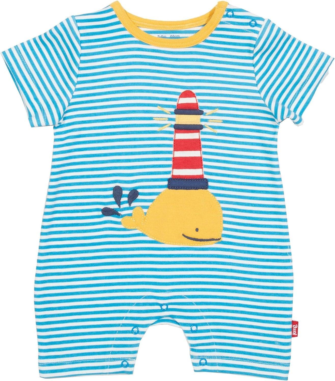 Rainbow Organic Newborn-24 Months Kite Baby Rainbow Whale Sleepsuit