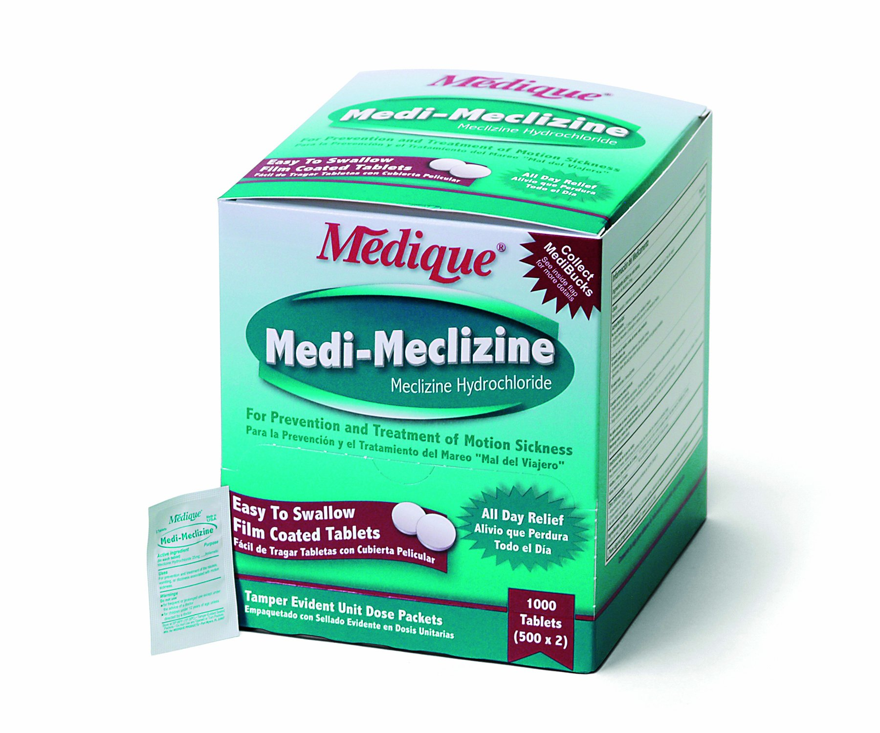 Medique Products Medi-Meclizine, Motion Sickness Medication - 500 Tablets by Medique