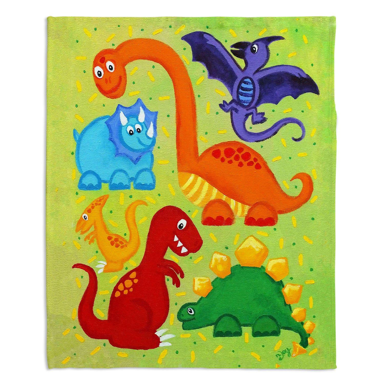 ブランケットウルトラソフトFuzzy 4サイズダイアノウチェデザインズ – Nicola Joyner NjoyアートホームデコレーションbedroomcouchまたはThrowブランケット – Dinosaur Jumble Medium 60