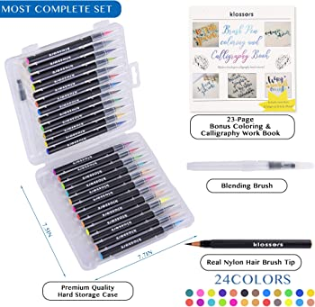 Klossers Water Color Marker Pen Brush Set