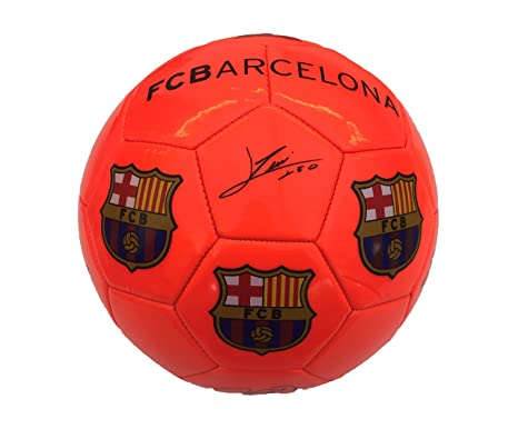 Balon FC Barcelona Naranja Fluorescente Grande: Amazon.es: Bebé