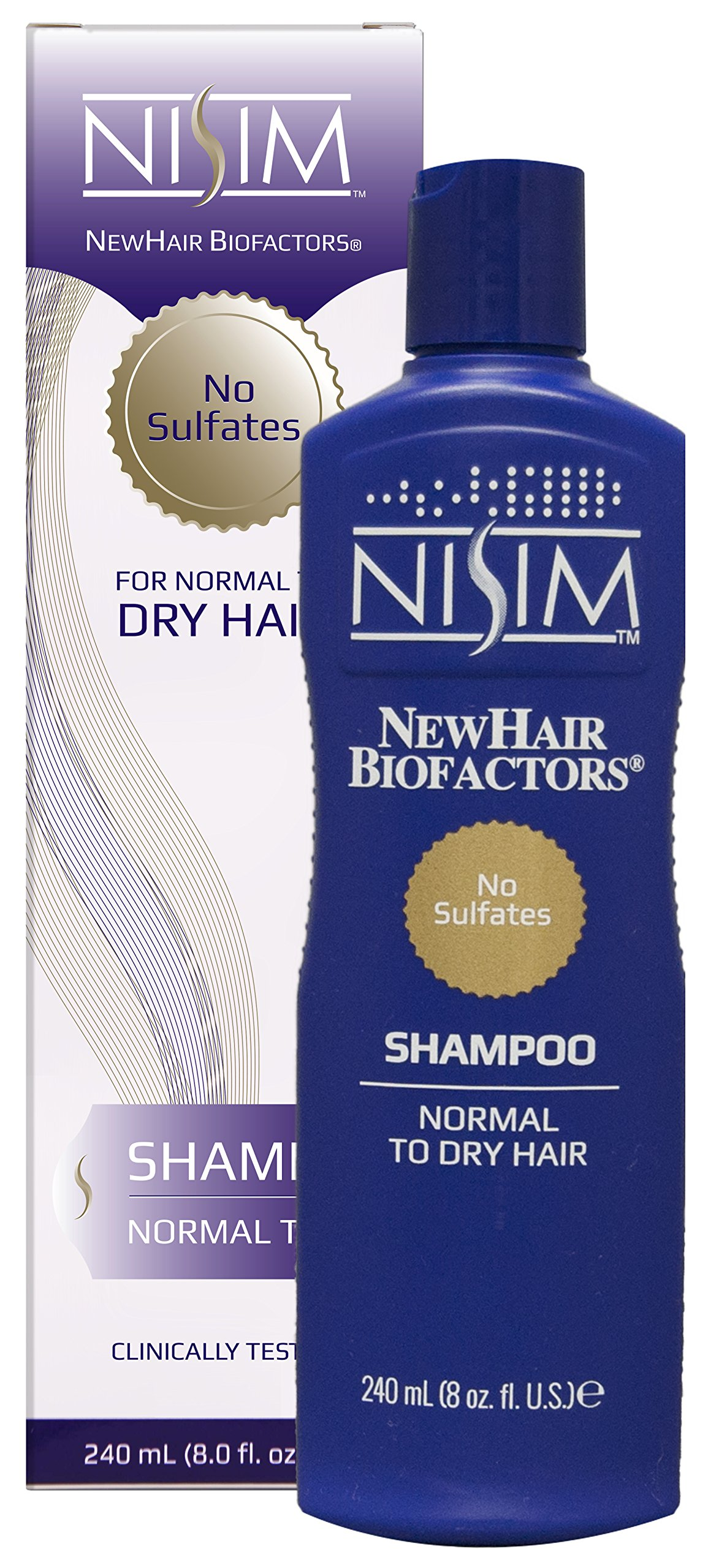 NISIM NewHair BioFactors Shampoo for Normal To Dry Hair - Deep Cleaning Shampoo That Controls Excessive Hair Loss (8 Ounce / 240 Milliliter) by Nisim