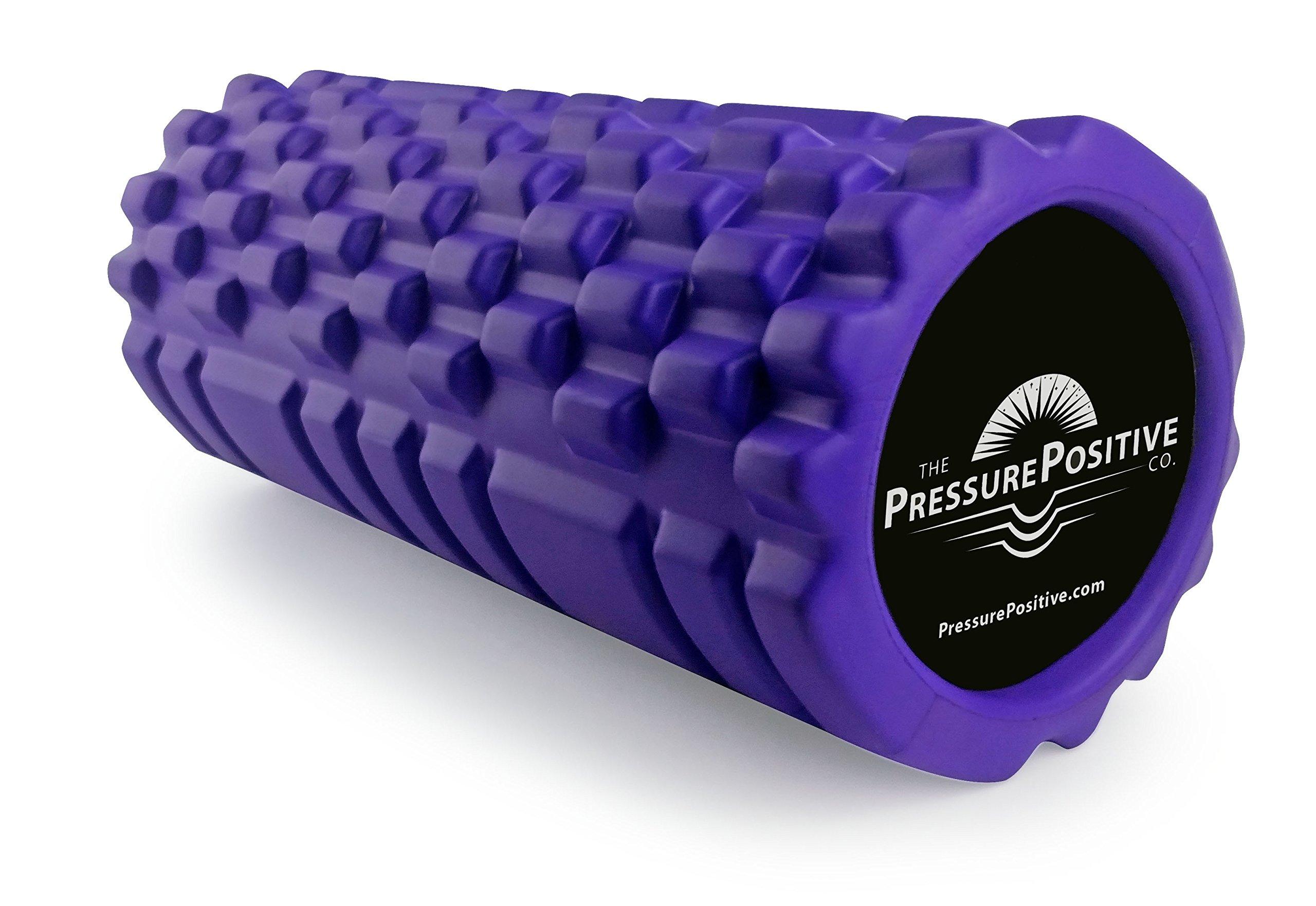 The Pressure Positive Company Solid Core Therapeutic EVA Foam Roller, Purple, 13 x 5.5''