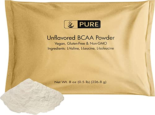 Pure Organic Ingredients Unflavored Instantized BCAA to Boost Muscle Growth. Eco-Friendly Packaging, 100 All-Natural, Non-GMO, V