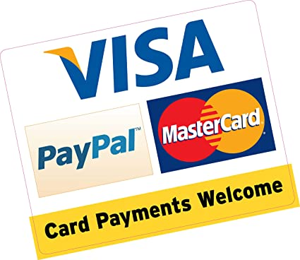 Los pagos de tarjeta de bienvenida Paypal Visa MasterCard 150 x ...