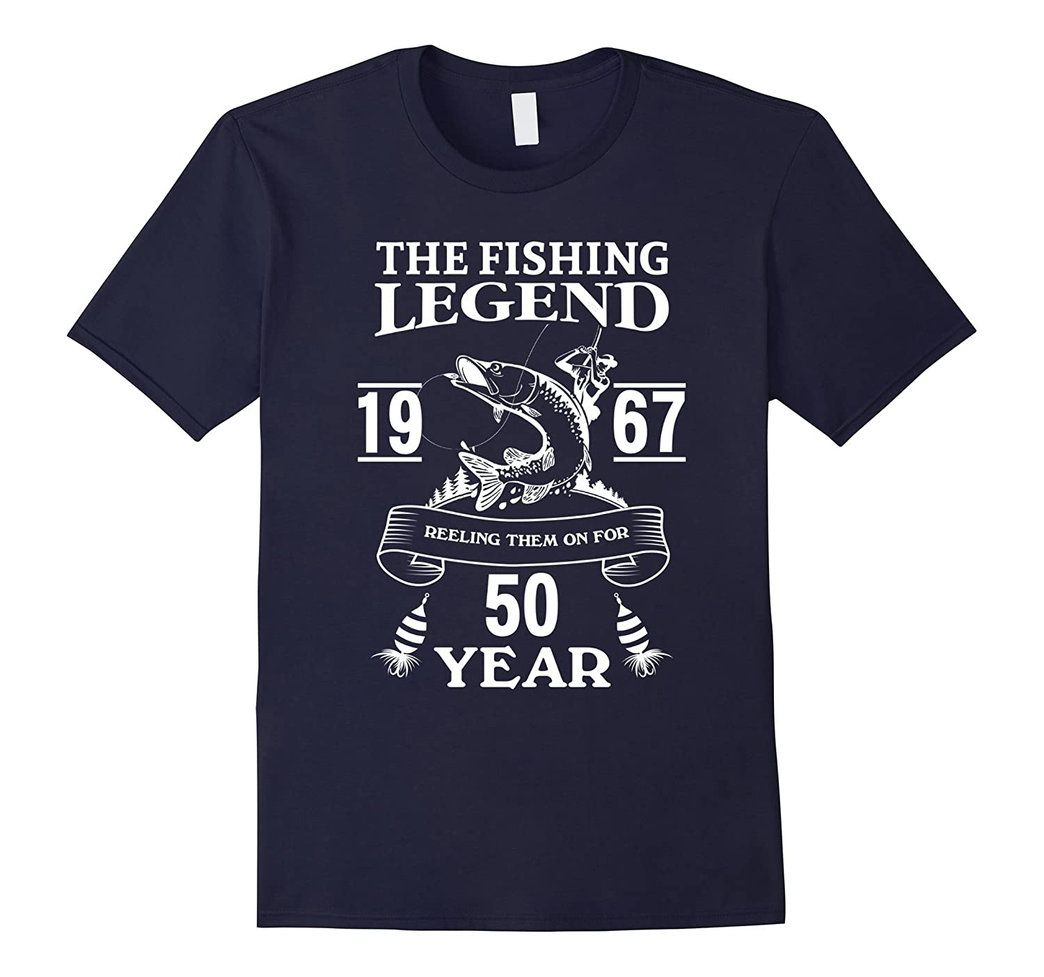 Mens 50 Years Old 1967 Fishing Birthday Gifts Tshirt for Men Dad-TJ