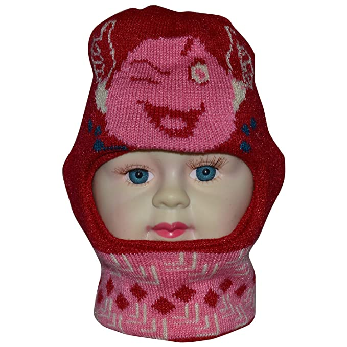 3c668f98e514 Gajraj Baby Boy s and Girl s Woollen Monkey Cap (GHF054 Red)  Amazon ...