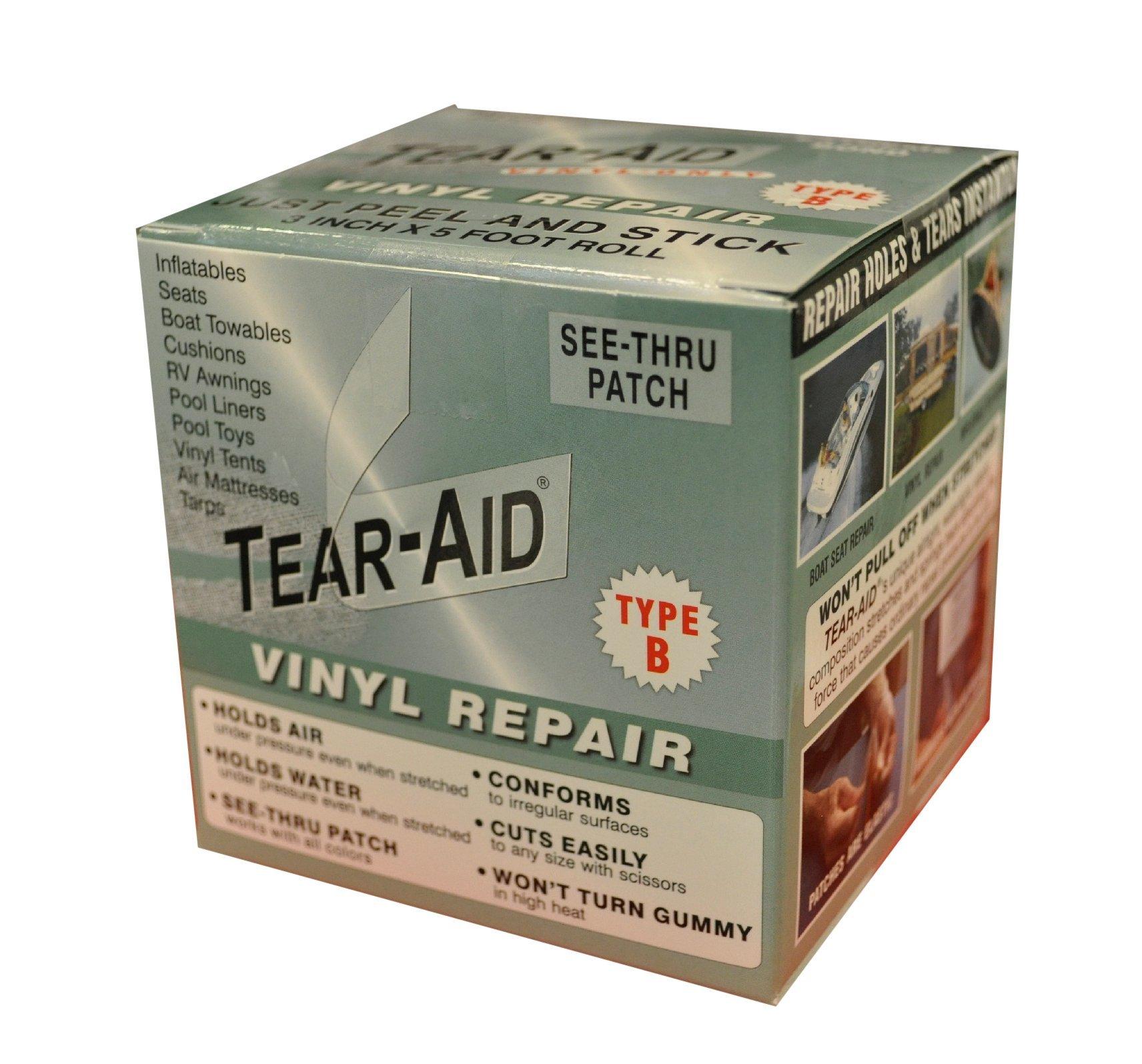 Tear-Aid Vinyl Repair Kit, 3 in x 5 ft Roll, Type B (2 Pack) by Tear-Aid Repair