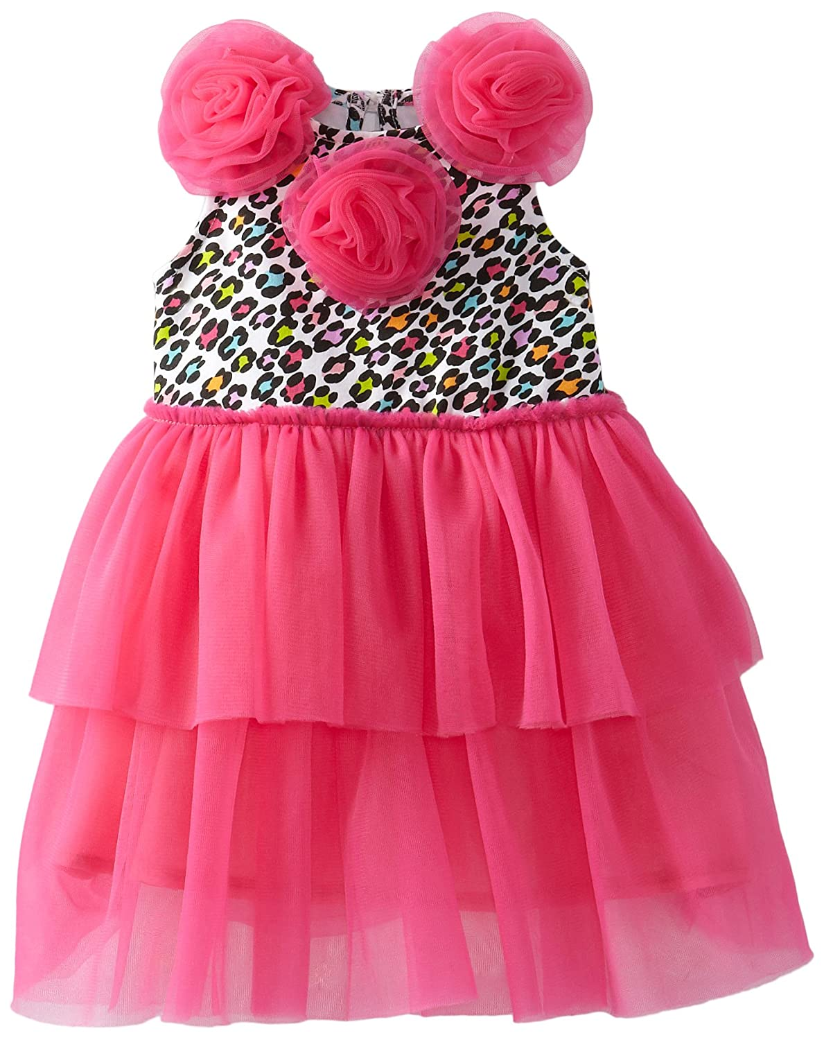 86a3dd421 Amazon.com: Mud Pie Baby Girls' Leopard Print Dress: Infant And Toddler  Playwear Dresses: Clothing